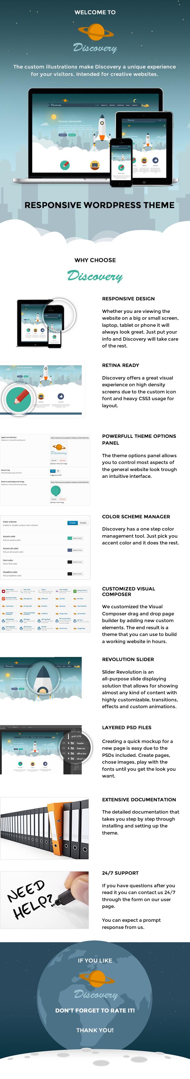 Discovery – Responsive Creative WordPress Theme